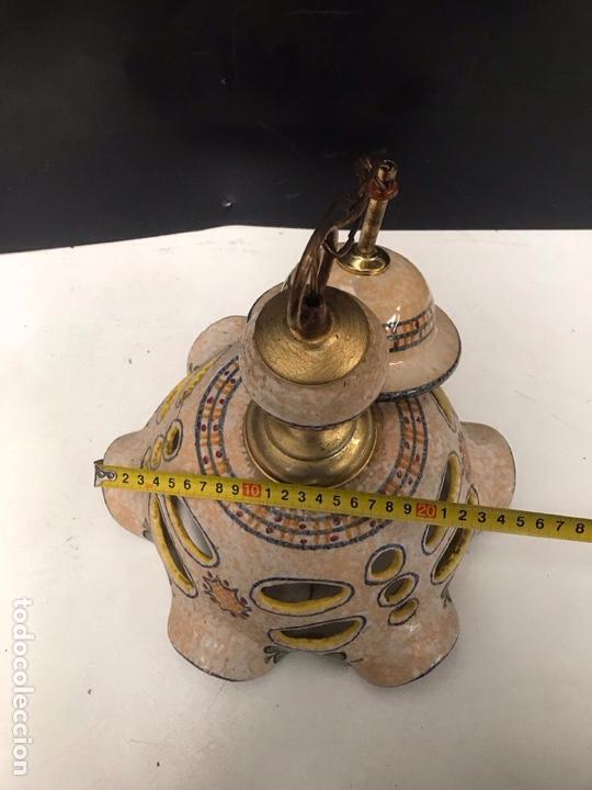 Antigüedades: Lampara de Talavera el Carmen - Foto 3 - 201489802