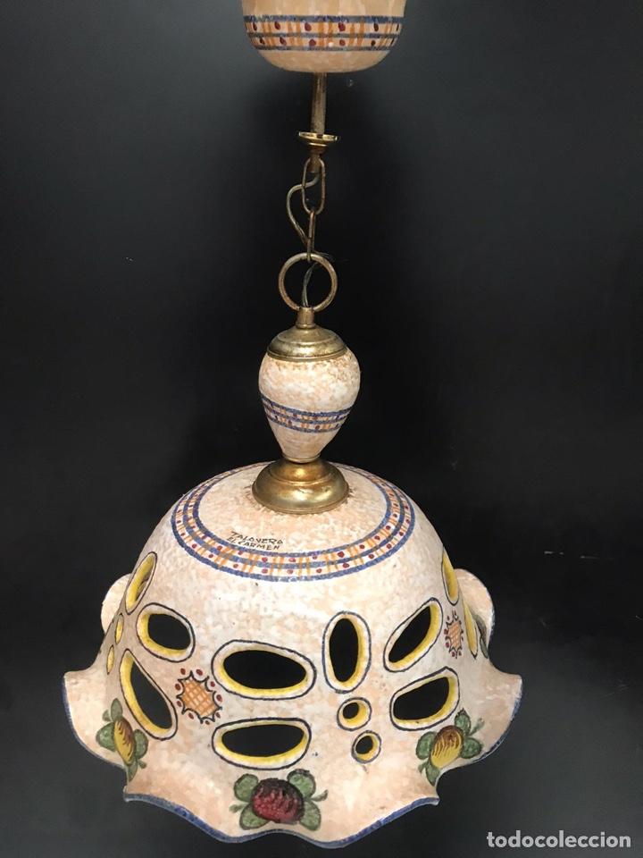 LAMPARA DE TALAVERA EL CARMEN (Antigüedades - Porcelanas y Cerámicas - Talavera)