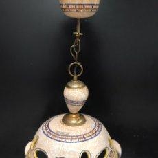 Antigüedades: LAMPARA DE TALAVERA EL CARMEN. Lote 201491435