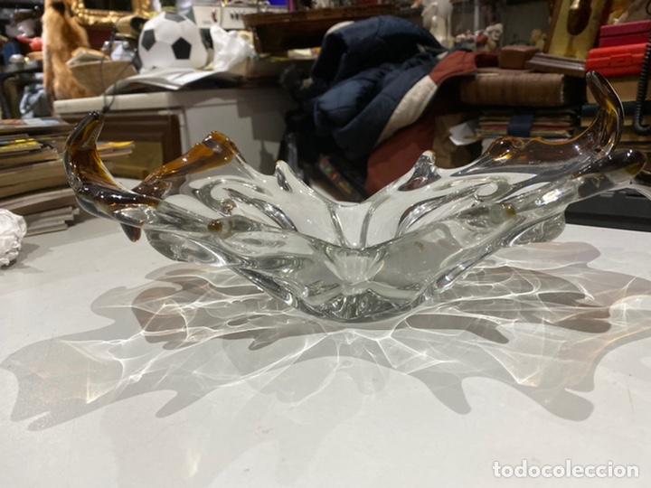 JARRON CENTRO DE MESA ANTIGUO MIDE 30X10 CM - VER LAS IMÁGENES (Antigüedades - Cristal y Vidrio - Otros)
