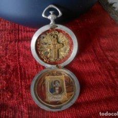 Oggetti Antichi: RELICARIO DE VIAJE DE PLATA . Lote 201589350