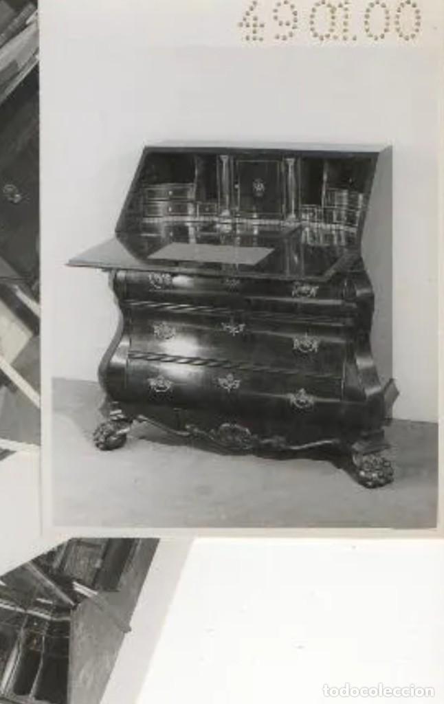 Antigüedades: Bureau antiguo estilo Chippendale. Escritorio secretaire antiguo estilo inglés Mueble buró cajonera. - Foto 24 - 178391765