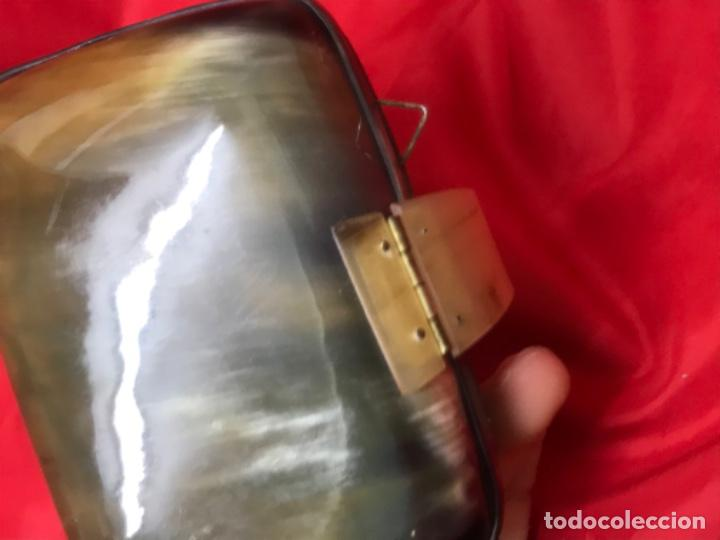 Antigüedades: Antiguo bolso de mano asta de toro o buey ver fotografias - Foto 9 - 201606180