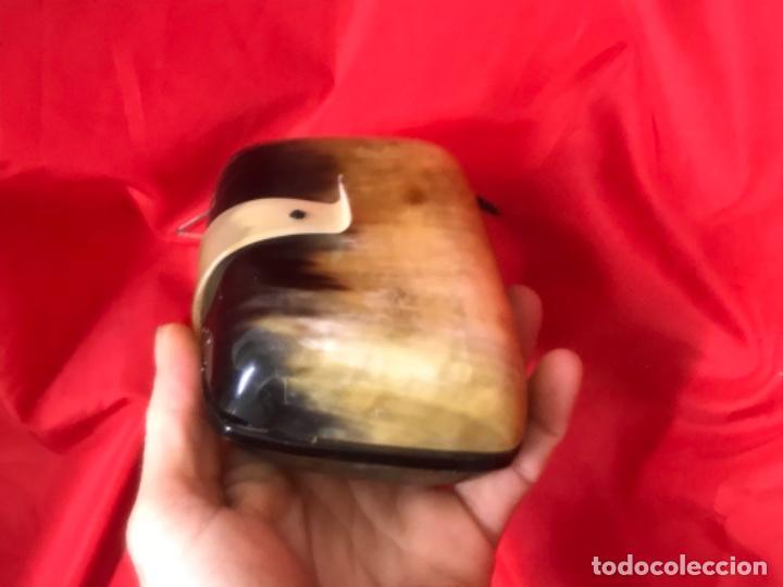 Antigüedades: Antiguo bolso de mano asta de toro o buey ver fotografias - Foto 10 - 201606180