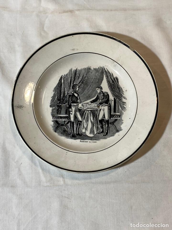 PLATO CARTAGENA S.XIX AMBICION AL PODER (Antigüedades - Porcelanas y Cerámicas - Cartagena)