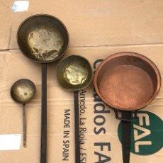 Antigüedades: LOTE DE 4 CAZOS ANTIGUOS. Lote 201644927