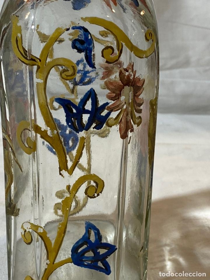 Antigüedades: Botella cristal esmaltado al fuego, s XIX - Foto 5 - 201646325