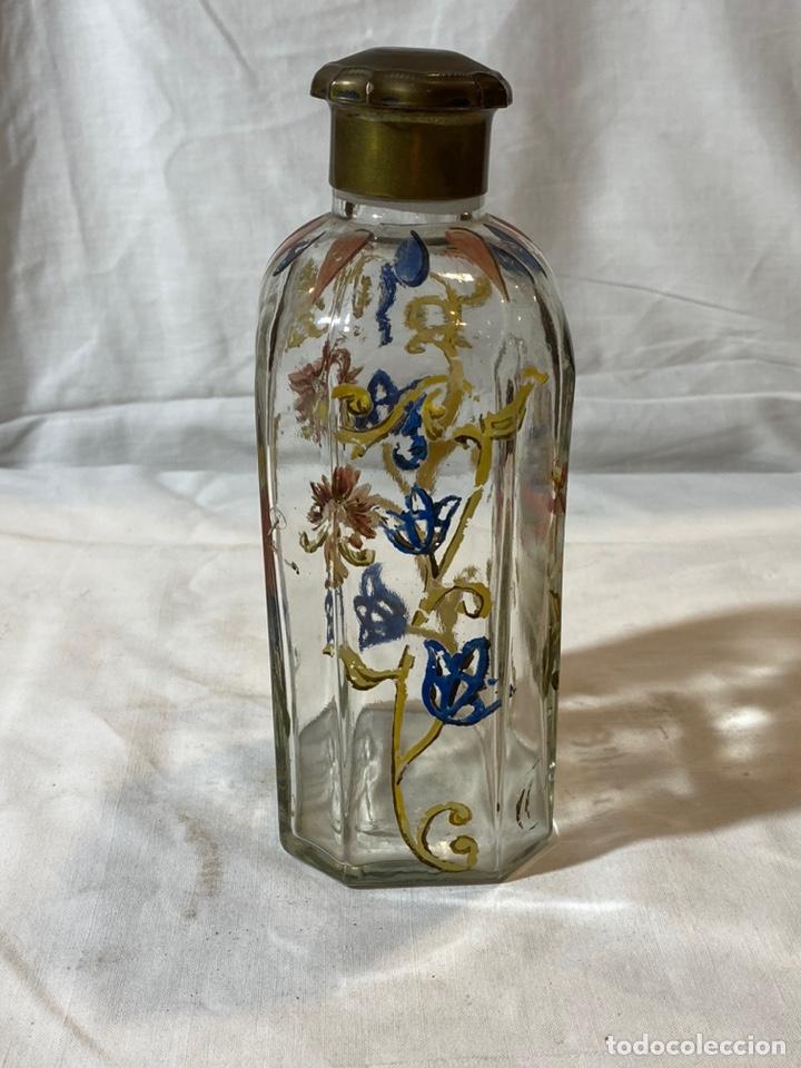 Antigüedades: Botella cristal esmaltado al fuego, s XIX - Foto 6 - 201646325