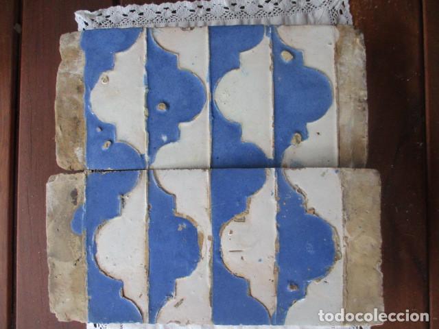 PAREJA Nº31 AZULEJOS SIGLO XVI (TRIANA) (Antigüedades - Porcelanas y Cerámicas - Azulejos)