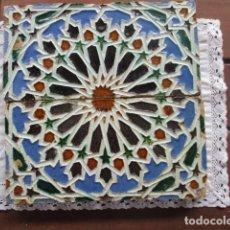 Antigüedades: PAREJA DE AZULEJOS HERMANOS JIMENEZ IZQUIERDO 1898. Lote 201650580