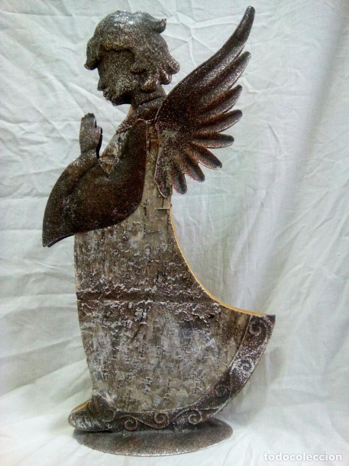 Antigüedades: artículo religioso.Ángel de la guarda portapaz años 40 .40 cm por 24 cm. - Foto 12 - 201672232
