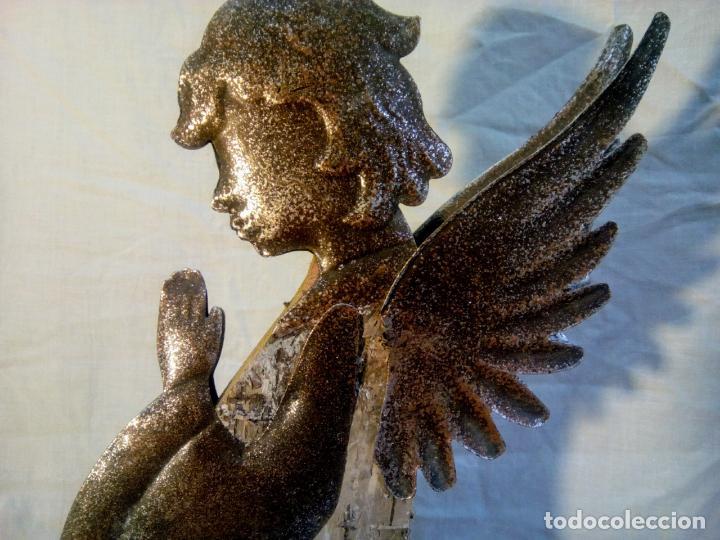 Antigüedades: artículo religioso.Ángel de la guarda portapaz años 40 .40 cm por 24 cm. - Foto 16 - 201672232