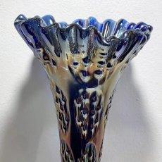 Antigüedades: CARNIVAL GLASS, JARRÓN.. Lote 201763892