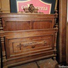 Antigüedades: CAMA ALFONSINA DE NOGAL. Lote 201779456