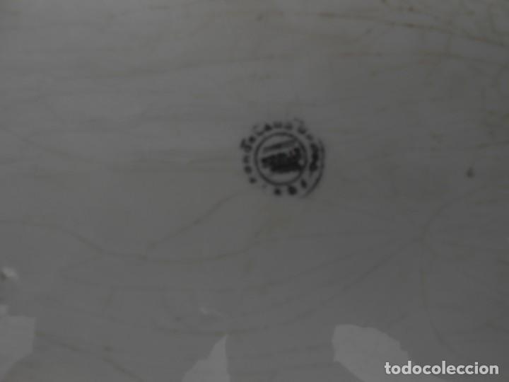 Antigüedades: LOTE DE DOS PLATOS Y UNA FUENTE ANTIGUOS - Foto 7 - 201833370