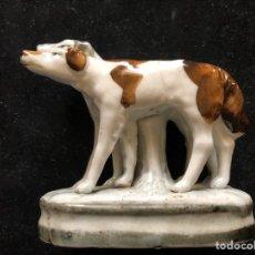 Antigüedades: PERROS LOZA INGLESA.. Lote 201835336