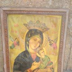 Antigüedades: CUADRO VIRGEN DEL PERPETUO SOCORRO.. Lote 201917573