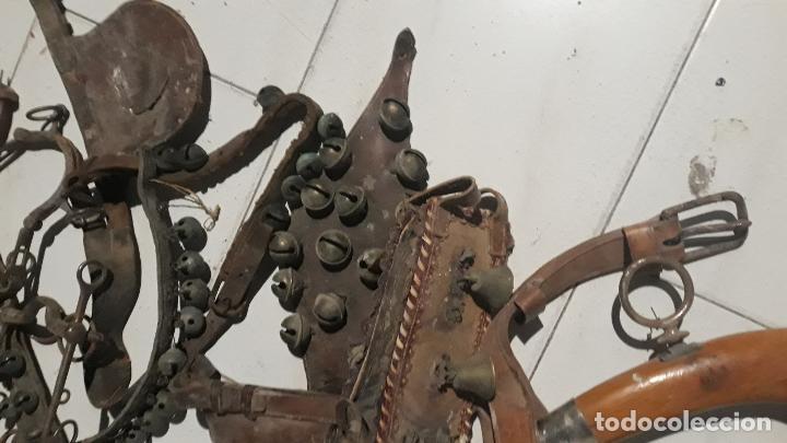 Antigüedades: lote de piezas de caballeria,muchos cascabeles de difrentes epocas,muchas piezas y de mucha calidad, - Foto 2 - 201920848