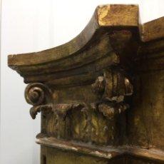 Antigüedades: PRECIOSA COLUMNA-RINCONERA TALLADA ANTIGUA, ESTILO BARROCO.,. Lote 201927860