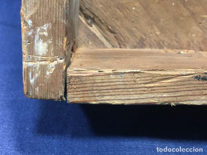 Antigüedades: MENSULA RINCONERA EPOCA FERNADO VII MADERA CHAPEADO GRUESO CAOBA 8X43X30CMS - Foto 8 - 201980930