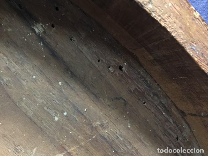 Antigüedades: MENSULA RINCONERA EPOCA FERNADO VII MADERA CHAPEADO GRUESO CAOBA 8X43X30CMS - Foto 11 - 201980930