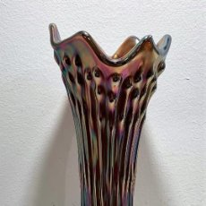 Antigüedades: CARNIVAL GLASS, JARRÓN. Lote 202016643