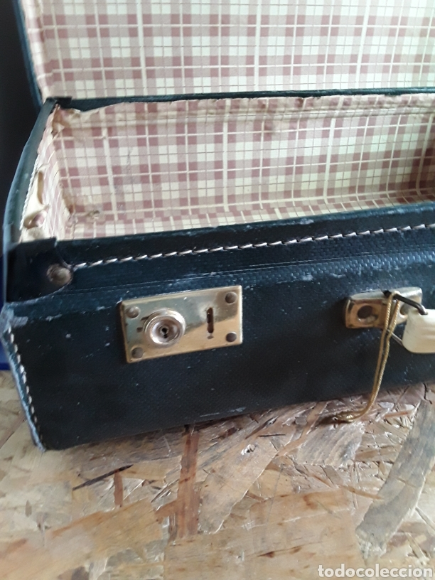 Antigüedades: Antigua maleta de carton - Foto 3 - 202085073