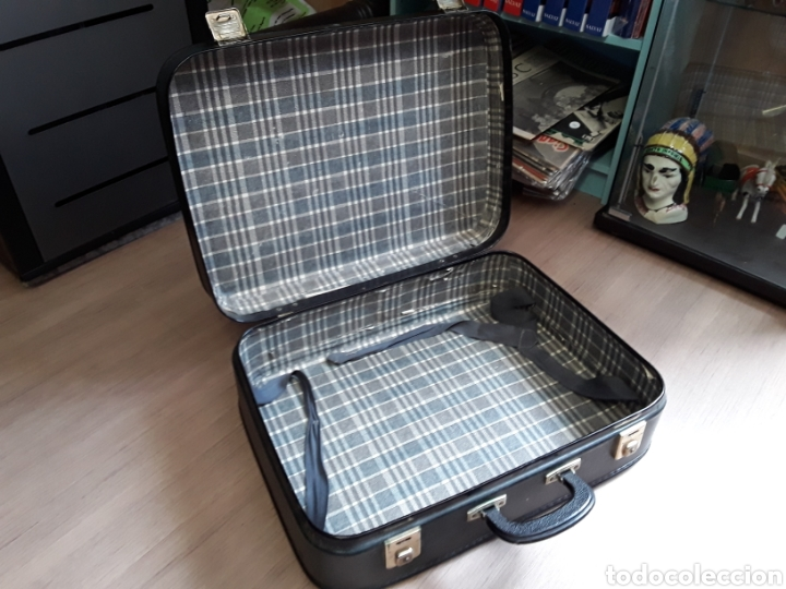 Antigüedades: Antigua maleta de carton - Foto 2 - 202087265