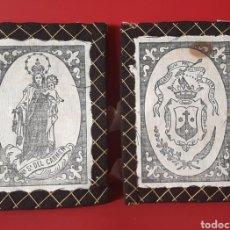 Antigüedades: ANTIGUO ESCAPULARIO DE LA VIRGEN DEL CARMEN CON CINTA DE SEDA.. Lote 202267401