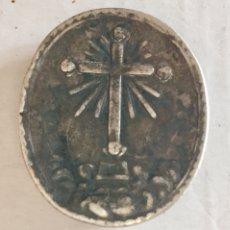Antigüedades: CAJA DE RELICARIO SIGLOXVIII PLATA. Lote 202303035