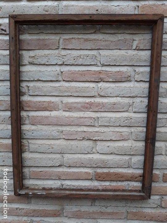 Antigüedades: 1 ) MARCO ANTIGUO EN MADERA CON ESTUCO DORADO. - Foto 3 - 202317385
