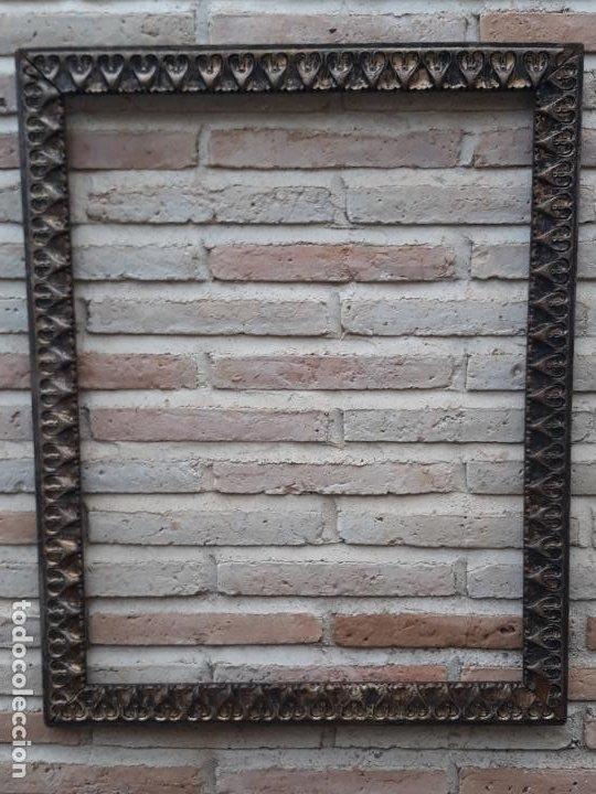 Antigüedades: 2 ) MARCO ANTIGUO EN MADERA CON ESTUCO DORADO. - Foto 8 - 202318275