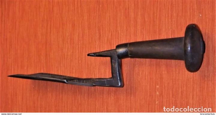Antigüedades: ANTIGUO PUJAVANTE DE HIERRO FORJADO - Foto 4 - 202322725