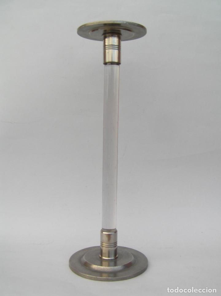 SOMBRERERO DE SOBREMESA. CRISTAL Y METAL . FINALES SIGLO XIX. 34 CM. (Antigüedades - Moda - Sombreros Antiguos)