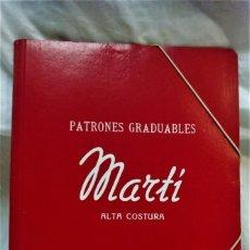 Antigüedades: PATRONES GRADUABLES MARTÍ .ALTA COSTURA.PRIMAVERA,VERANO,OTOÑO,INVIERNO 1948-1949. Lote 202351736