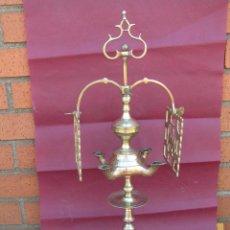 Antigüedades: LUMINARIA DE CUATRO MECHAS. COMPLETA Y LIMPIA. CIRCA !900.. Lote 202351892