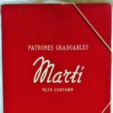 Antigüedades: PATRONES GRADUABLES MARTÍ.ALTA COSTURA.PRIMAVERA,VERANO,OTOÑO,INVIERNO 1952-1953. Lote 202351938