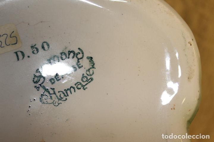 Antigüedades: Dos jarros floreros de cerámica policromada.Fdo Siamand Hamge.Art Nouveau.Pps S XX. - Foto 8 - 202358533