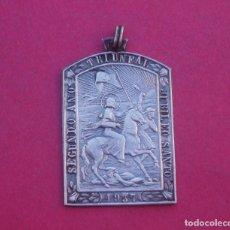 Antigüedades: MEDALLA ANTIGUA SANTIAGO APÓSTOL A CABALLO SEGUNDO AÑO TRIUNFAL. 1937. JUBILEO SANTO. GUERRA CIVIL.. Lote 202369047