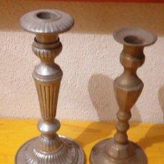 Antigüedades: LOTE 2 CANDELABROS ANTIGUOS. Lote 202373801