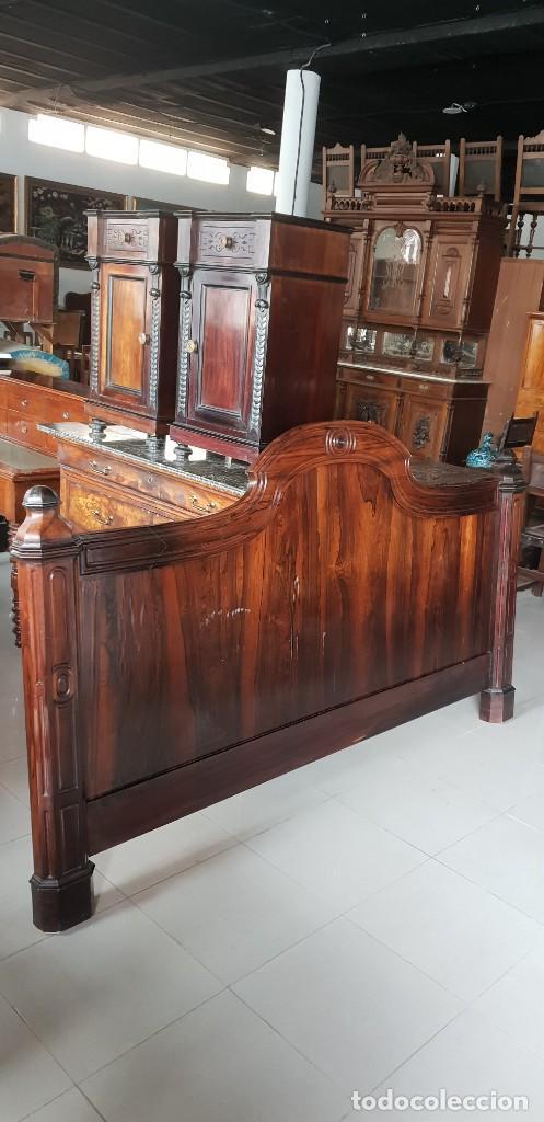 Antigüedades: Gran cabecero en madera de Palo Santo - Foto 2 - 202402536