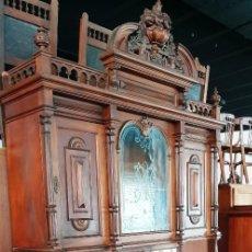 Antigüedades: GRAN APARADOR ALFONSINO EN MADERA DE NOGAL. Lote 202404531