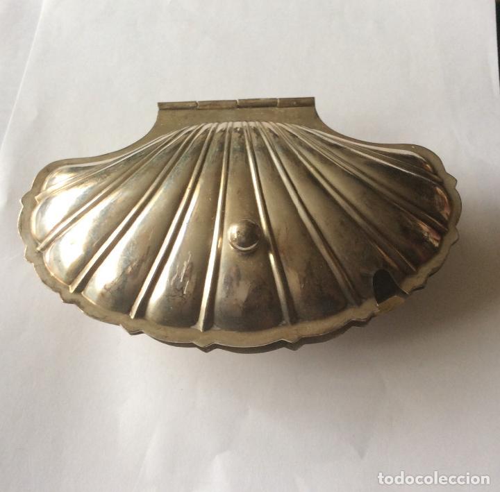 Antigüedades: Salsera antigua Francesa con contrastes, en metal plateado - Foto 4 - 202409753