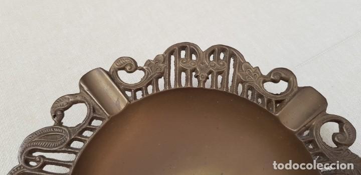 Antigüedades: CENICERO DE BRONCE CON FILO LABRADO - Foto 5 - 202414443