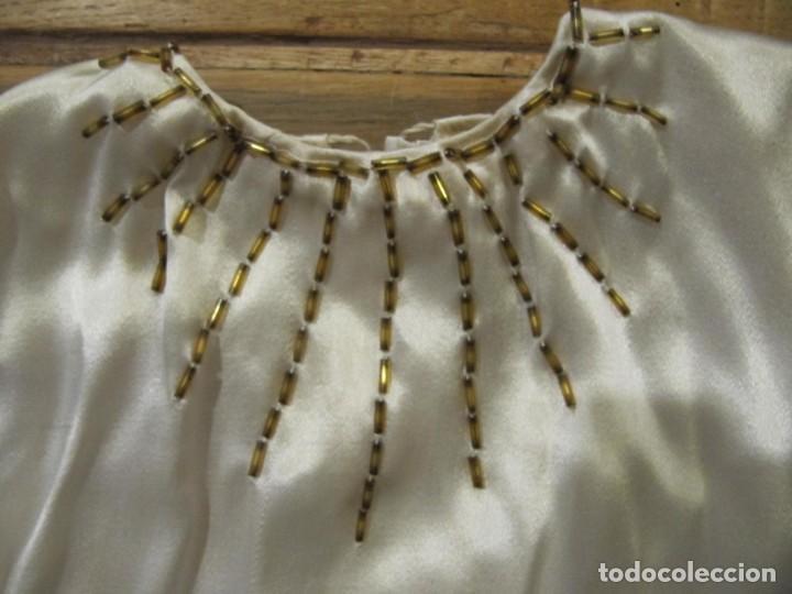 Antigüedades: ROPA ANTIGUA PARA IMAGEN DE VESTIR CON PEDRERIA BORDADA - Foto 4 - 202417681