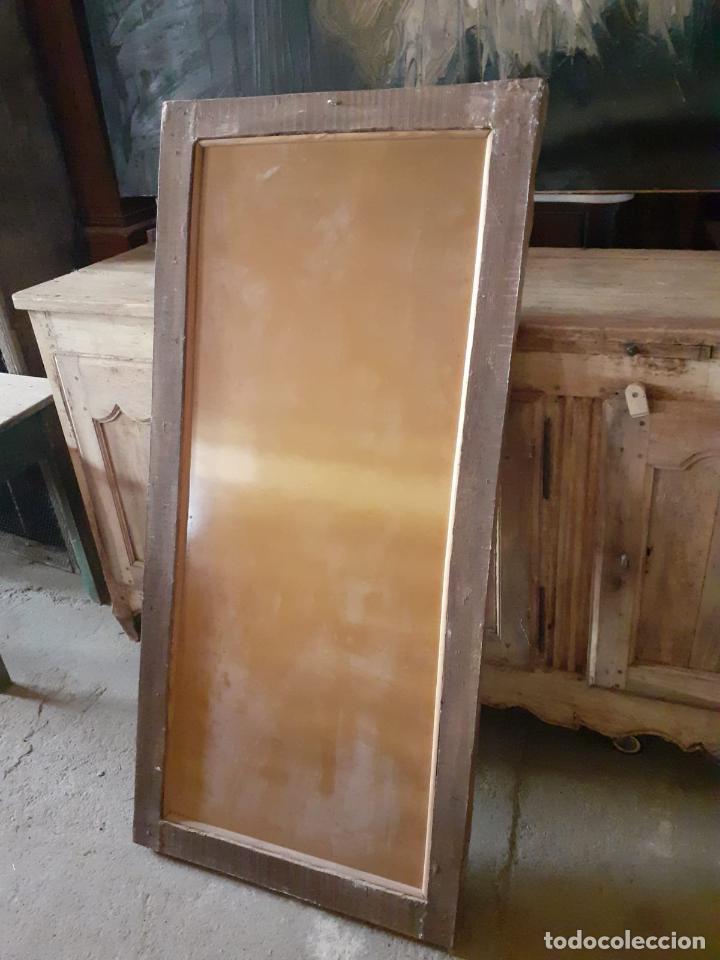 Antigüedades: Antiguo Espejo - Madera Tallada y Dorada en Pan de Oro - Posibilidad Horizontal, Vertical - S. XVIII - Foto 14 - 191861608