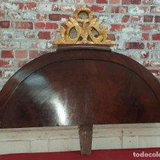 Antigüedades: REMATE DE CAMA ESTILO IMPERIO. Lote 202431285