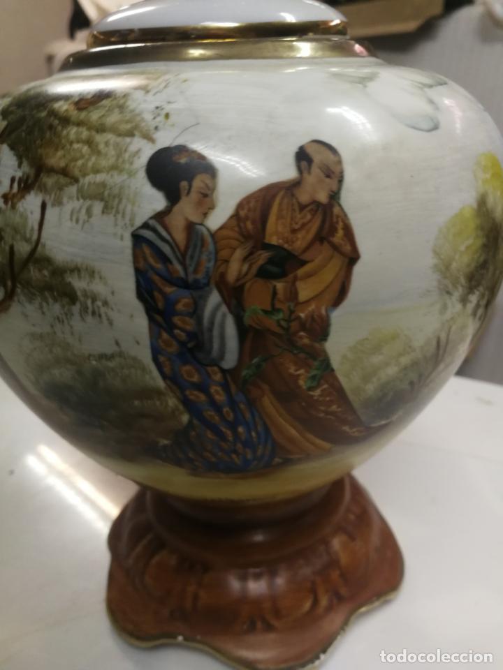 Antigüedades: ANTIGUO JARRON. CELADON. TIBOR CHINO O JAPON. PORCELANA ESMALTADA Y PINTADA A MANO. - Foto 2 - 202474476