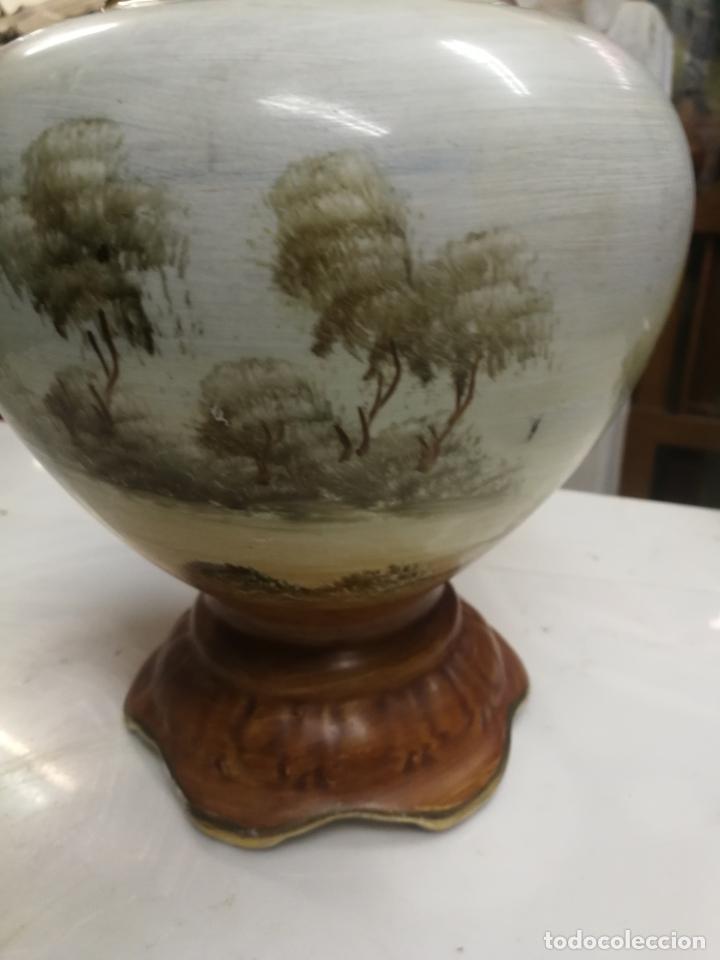 Antigüedades: ANTIGUO JARRON. CELADON. TIBOR CHINO O JAPON. PORCELANA ESMALTADA Y PINTADA A MANO. - Foto 6 - 202474476