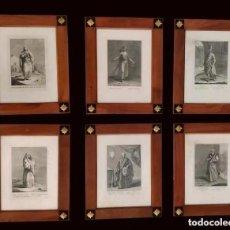 Antigüedades: MAGNÍFICOS GRABADOS ANTIGUOS, TEODORO VIELO, MARCO MODERNO, EXCELENTE ENMARCACIÓN.. Lote 280362513